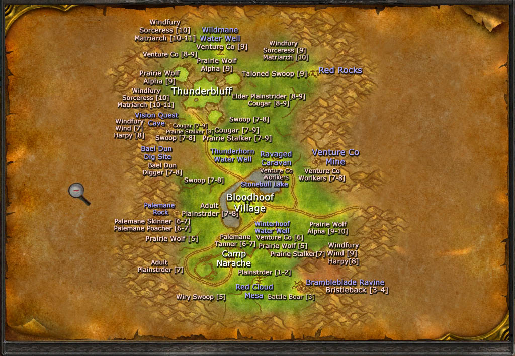 how to read wow world map